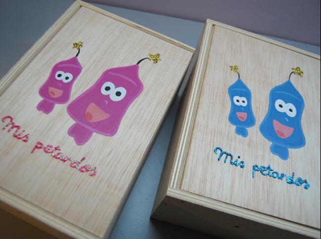 Caja de madera petardos regalos falleros