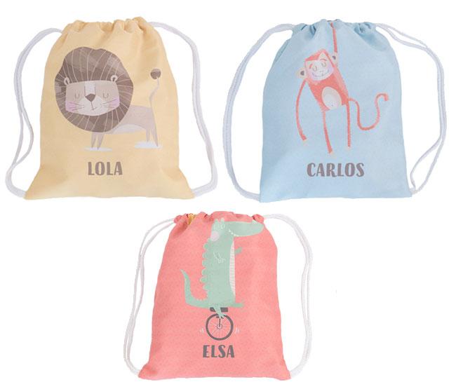 mochilas-saco-guarderia-personalizada-animales